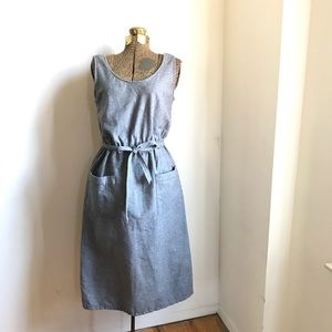 Vintage 1950's Gray Wool Jumper Dress